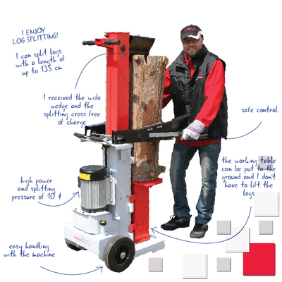 VARI log splitter