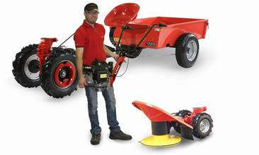 Two-wheel minitractors