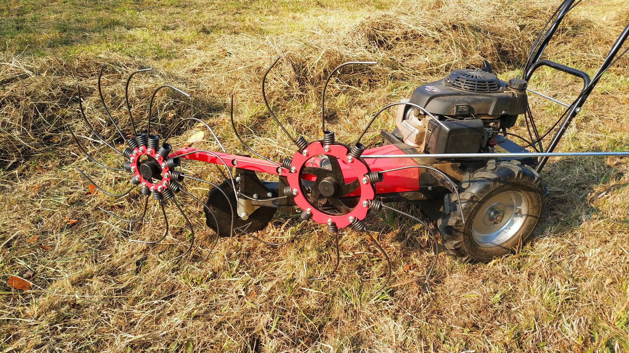 SH-600 finger-wheel hay rake